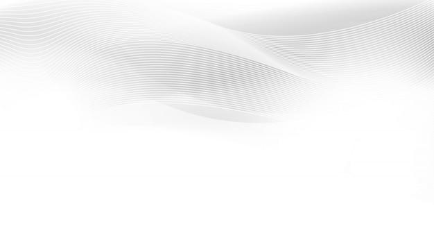 Modèle abstrait de vagues et de lignes blanches grises.