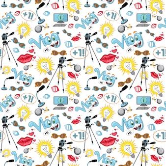 Modèle d'accessoire videoblog.