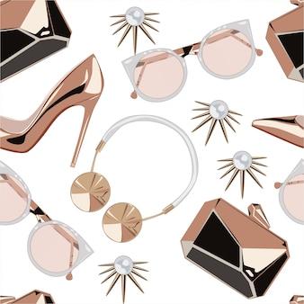Modèle d'accessoires rose doré