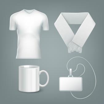 Modèle d'accessoires de ventilateur de couleur blanche