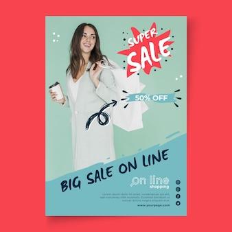 Modèle d'achat en ligne d'affiche
