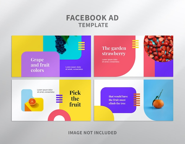 Modèle d'adwords facebook de fruits