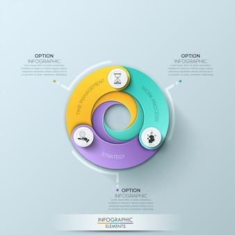 Modèle d'affaires de cercle moderne