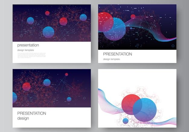 Modèle d'affaires de conception de diapositives de présentation