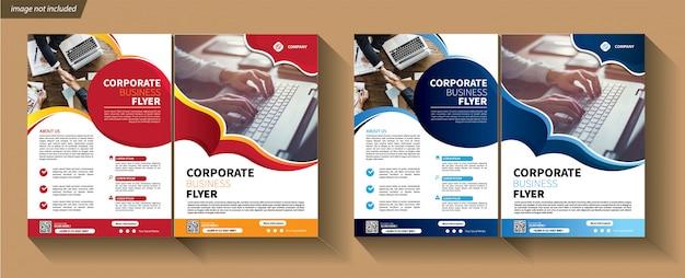 Modèle d'affaires à deux volets pour brochure d'entreprise