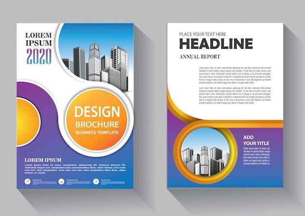 Modèle d'affaires flyer design cover pour brochure et rapport annuel
