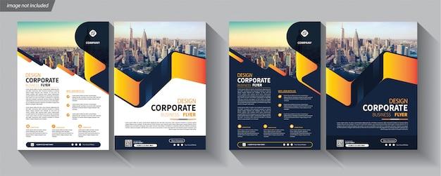 Modèle d'affaires de flyer pour la brochure de couverture d'entreprise