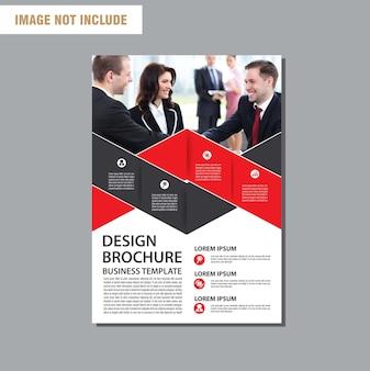 Modèle d'affaires flyer pour la brochure de fond