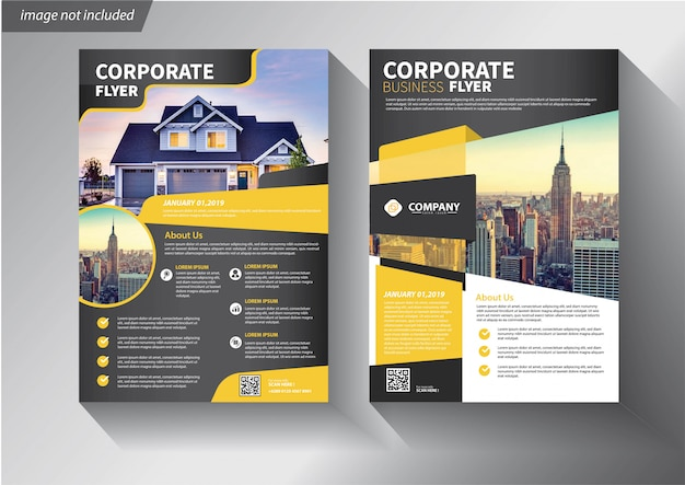 Modèle d'affaires flyer pour couverture brochure corporative
