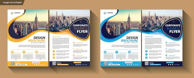 Modèle d'affaires flyer pour couverture brochure corporative