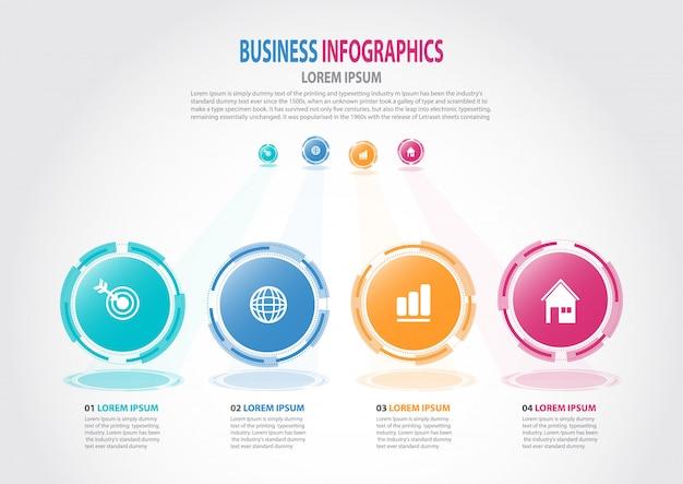 Modèle d'affaires infographie