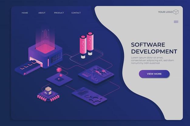 Modèle d'affaires moderne avec logiciel
