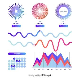 Modèle d'affaires de tableau de bord infographique