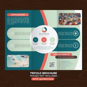 Modèle d'affaires trifold de conception ronde