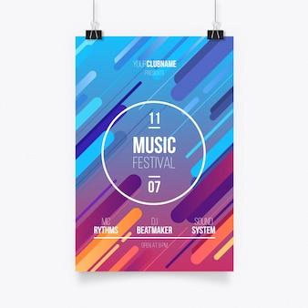 Modèle d'affiche abstrait coloré