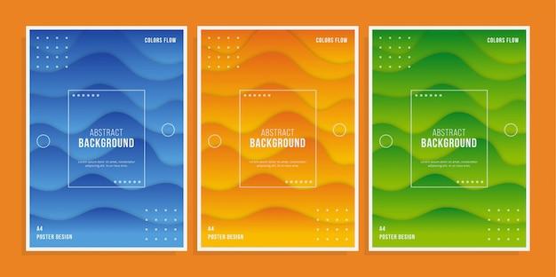 Modèle d'affiche abstrait géométrique moderne