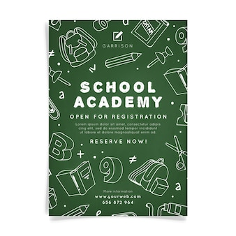 Modèle d'affiche de l'académie scolaire