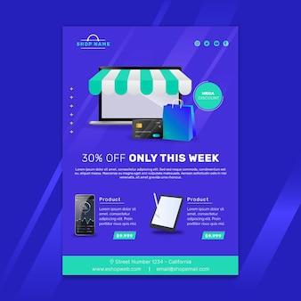 Modèle d'affiche d'achat en ligne