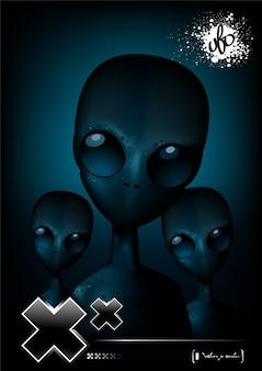 Modèle d'affiche alien