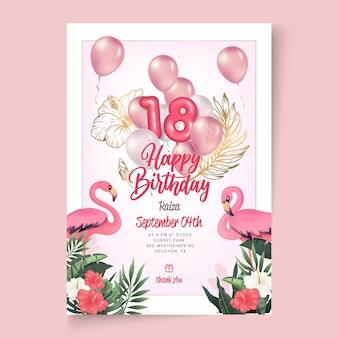 Modèle d'affiche d'anniversaire