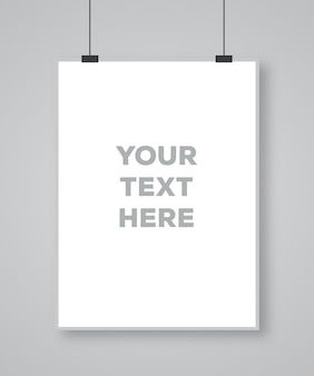 Modèle d'affiche d'art papier moderne d style réaliste sur fond gris design de fond moderne