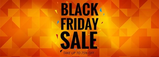 Modèle d'affiche ou de bannière black friday sale promotion