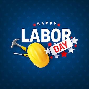 Modèle d'affiche et de bannière de vente de la fête du travailcélébration de la fête du travail aux états-unis