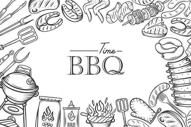 Modèle d'affiche de barbecue