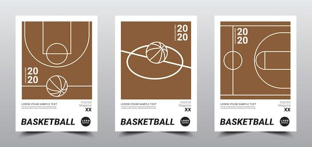 Modèle d'affiche de basket-ball minimal créatif