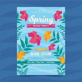 Modèle d'affiche beau printemps