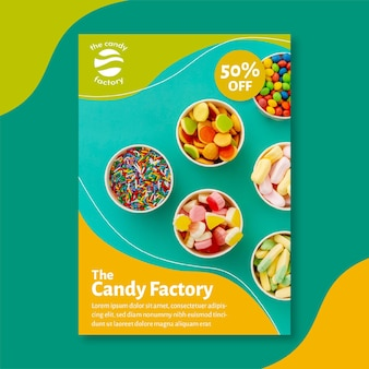 Modèle d'affiche de bonbons