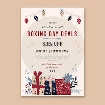 Modèle D'affiche De Boxe Day Vecteur Premium