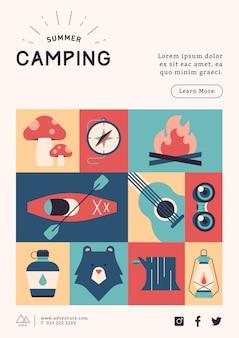 Modèle d'affiche de camping