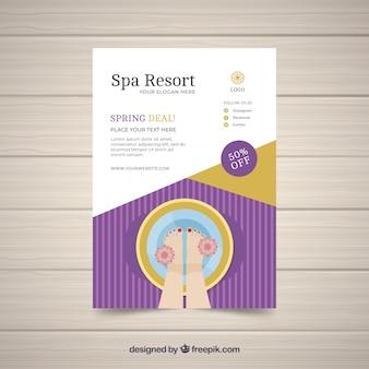 Modèle d'affiche de centre de spa