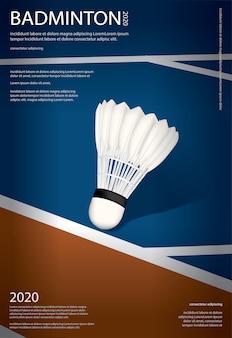 Modèle d'affiche de championnat de badminton
