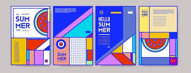 Modèle d'affiche coloré d'été