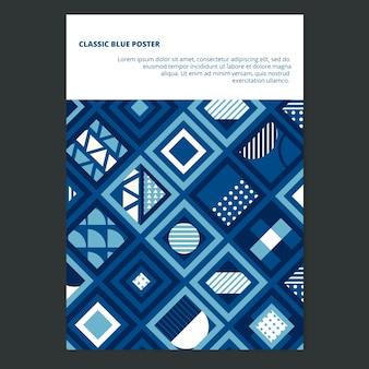 Modèle d'affiche concept abstrait