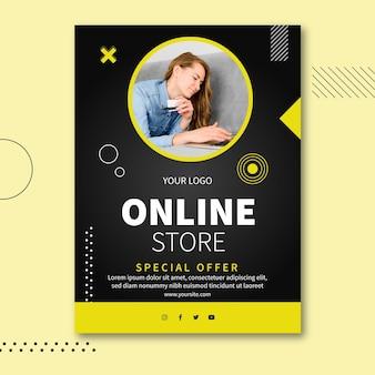 Modèle d'affiche de concept de boutique en ligne