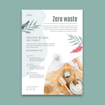 Modèle d'affiche de concept zéro déchet