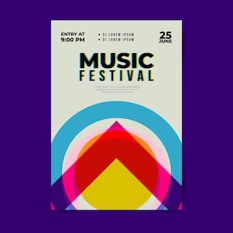 Modèle d'affiche de conception de festival