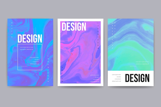 Modèle d'affiche de conception fluide coloré