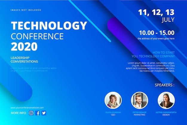 Modèle d'affiche de conférence technologique