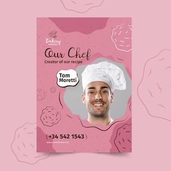 Modèle d'affiche de cookies avec photo