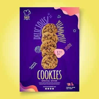 Modèle d'affiche de cookies