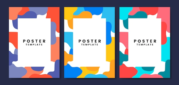 Modèle d'affiche cool et coloré