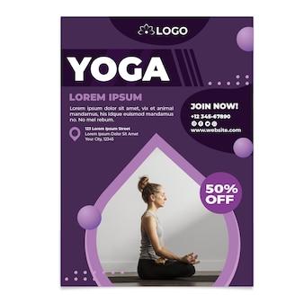 Modèle d'affiche de cours de yoga