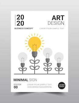 Modèle d'affiche créatif design minimal.