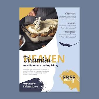 Modèle D'affiche De Cuisine Italienne Vecteur gratuit