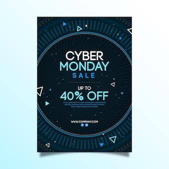 Modèle d'affiche cyber monday