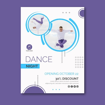 Modèle d'affiche de danse